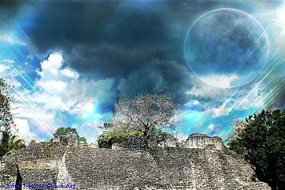 Photograph - Cloud Art By Over Mayan Ruins by John Potts