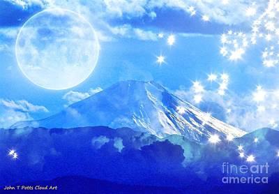 Photograph - Cloud Art Mt. Fuji by John Potts