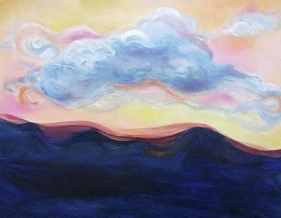 Cloud At Sunset Art Print