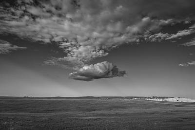 Prairie Storm Photograph - Cloud Bank At The Badlands by Thomas Young