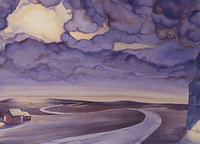 High Plains Painting - Cloud Break On The Northern Plains I by Scott Kirby
