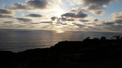 Photograph - Cloud Break Sunset At  State Natural Reserve In San Diego by Heather Kirk