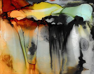 Pouring Painting - Cloud Burst by Louise Adams