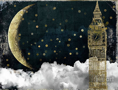 Big Ben Painting - Cloud Cities London by Mindy Sommers