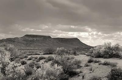 Apache Creek Photograph - Cloud Cover, Monochrome by Gordon Beck