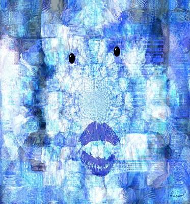 Missing Mixed Media - Cloud Face by Fania Simon