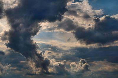 Photograph - Cloud Formations Boiling Up by Kathryn Meyer