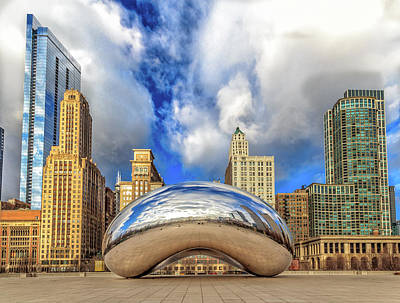 Photograph - Cloud Gate @ Millenium Park Chicago by Peter Ciro