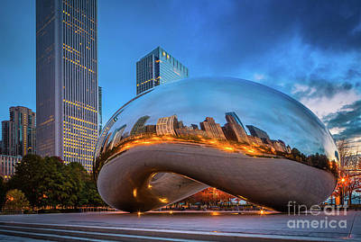 Photograph - Cloud Gate 5 by Inge Johnsson
