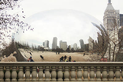Mauverneen Blevins Photograph - Cloud Gate - A Different View by Mauverneen Blevins