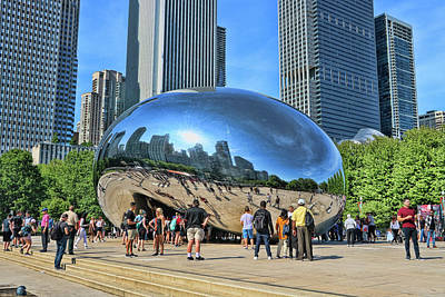 Photograph - Cloud Gate, A K A The Bean # 8 by Allen Beatty