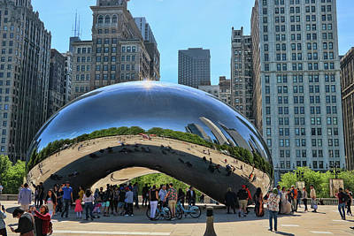 Photograph - Cloud Gate, A K A The Bean # 9 by Allen Beatty