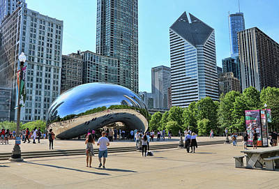 Photograph - Chicago Cloud Gate, A K A The Bean by Allen Beatty