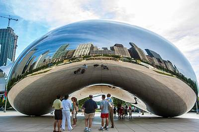Cloud Gate Aka Chicago Bean Art Print