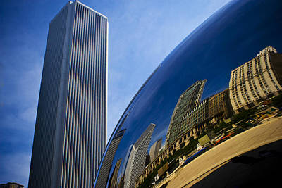 Photograph - Cloud Gate And Aon Center by Roger Passman