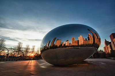 Photograph - Cloud Gate At Sunrise by Sebastian Musial