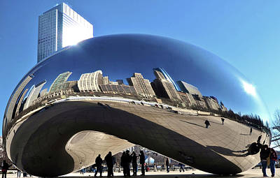 Print featuring the photograph Cloud Gate In The Sun by Sheryl Thomas