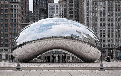 Digital Art - Cloud Gate by John Dyess