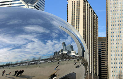Photograph - Cloud Gate Reflections by Kristin Elmquist