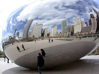 Photograph - Cloud Gate by Ron Read