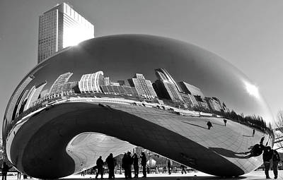 Print featuring the photograph Cloud Gate by Sheryl Thomas