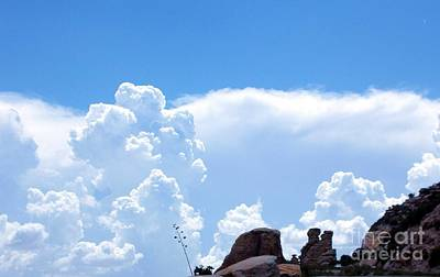 Coronado National Forest Photograph - Cloud Gazing Crags by Janet Marie