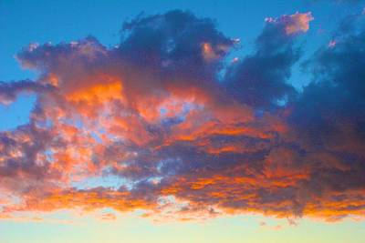 Photograph - Cloud Hovers On Fire by Polly Castor