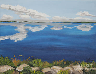 Painting - Cloud Lake by Annette M Stevenson