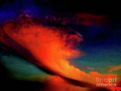 Winter Animals Rights Managed Images - Cloud manipulation Royalty-Free Image by Priscilla Batzell Expressionist Art Studio Gallery