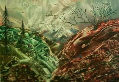 Cloud Mountain Art Print by John Vandebrooke