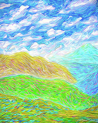Digital Art - Cloud Mountain Symphony - Colorado Front Range Mountains by Joel Bruce Wallach