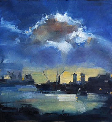 Cloud Over Docklands Art Print