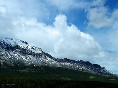 Photograph - Clouds Over Marias Pass by Tracey Vivar