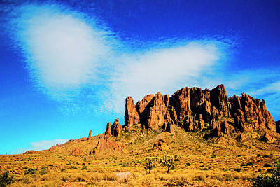 Photograph - Cloud Over Superstition Mountain by Roger Passman
