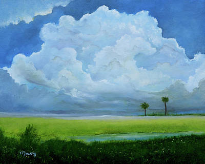 Painting - Cloud Over The Lagoon by Alicia Maury