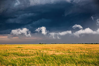 Prairie Girl Wall Art - Photograph - Cloud Parade - Clouds In Different Shapes March Over Oklahoma Prairie by Southern Plains Photography
