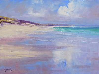 Impressionist Beach Painting - Cloud Reflections by Graham Gercken