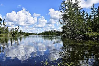 Photograph - Cloud Reflections by Larry Ricker
