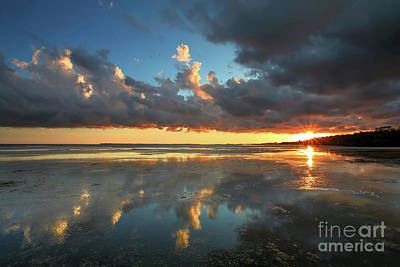 Southwest Florida Sunset Photograph - Cloud Reflections by Rick Mann
