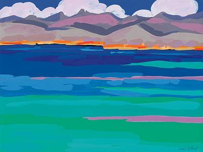 Cloud Sea View Art Print by Sarah Gillard