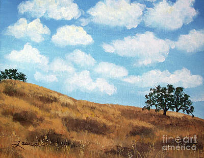 Live Oak Trees Painting - Cloud Shadows by Laura Iverson