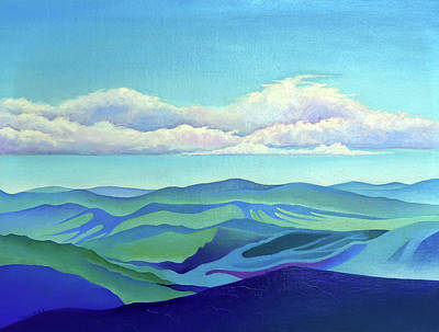 Painting - Cloud Shadows Oceans Of Mountains by Catherine Twomey