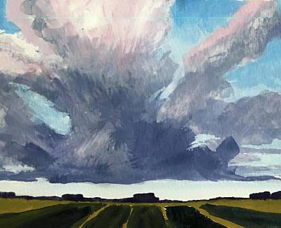 Painting - Cloud Sky by Nancy Merkle