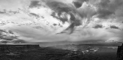 Cloud Spin Art Print by Jon Glaser