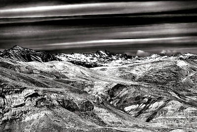 Photograph - Cloud Streaks Over The Andes In Chile by John Rizzuto
