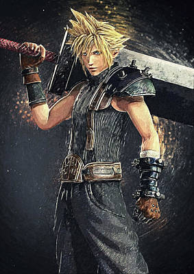 Sephiroth Digital Art - Cloud Strife by Taylan Apukovska
