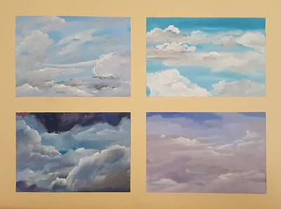 Painting - Cloud Study               51 by Cheryl Nancy Ann Gordon