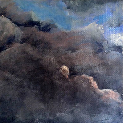 Wall Art - Painting - Cloud Study #1 by Jessica Tookey