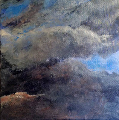 Wall Art - Painting - Cloud Study #2 by Jessica Tookey