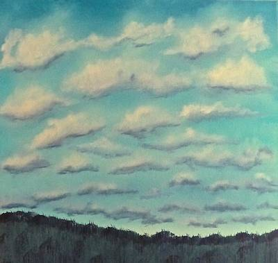 Cloud Study Cropped Image Art Print